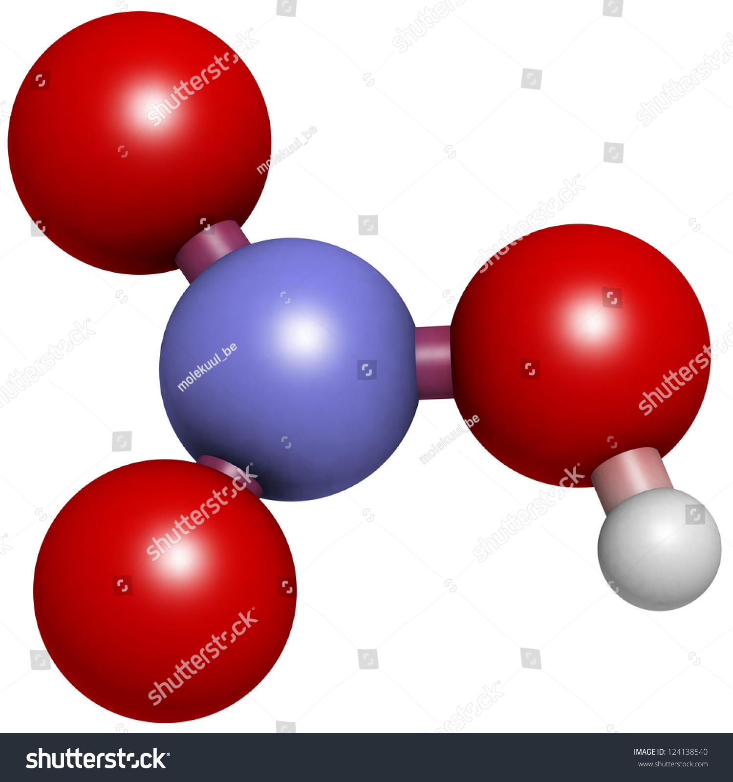 Nitric Acid Hno3 Molecule Chemical Structure Stock