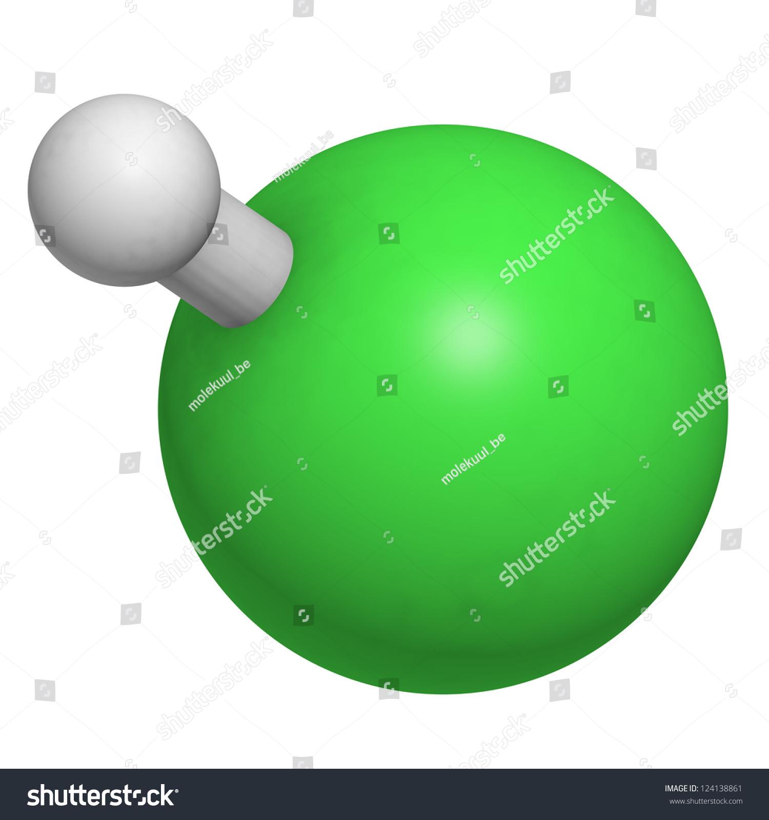 Hydrogen Chloride  Hcl  Molecule  Chemical Structure  Hcl