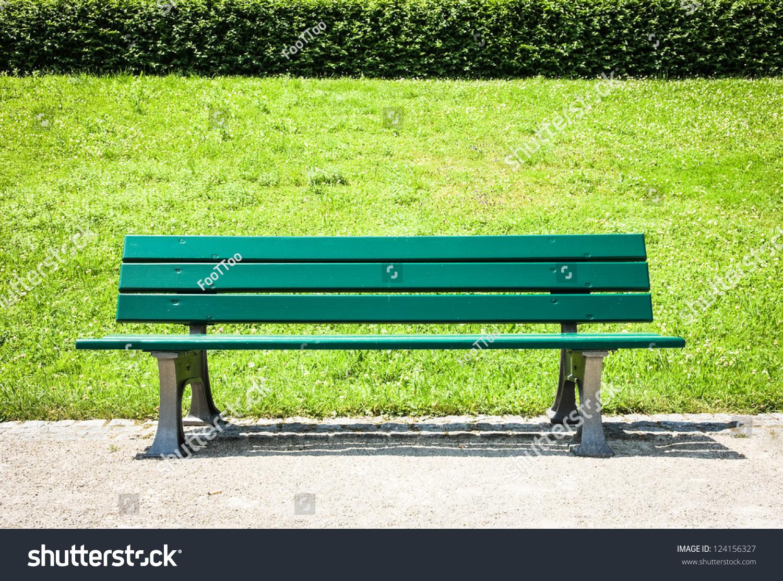 Wooden Park Bench Park Stock Photo 124156327 - Shutterstock