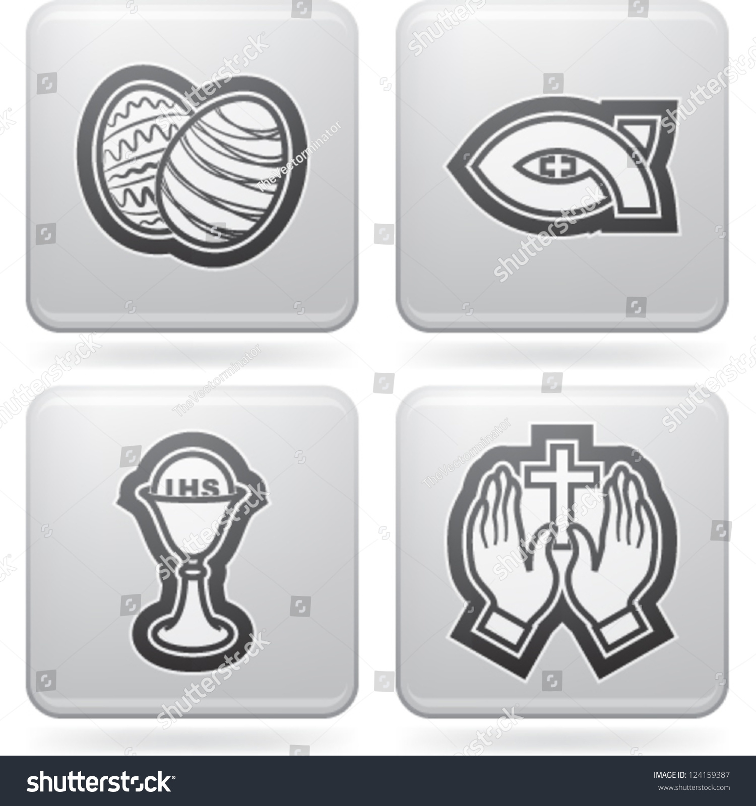 Icons symbols christian easter rituals left stock vector 124159387 icons and symbols of the christian easter rituals from left to right top to biocorpaavc Choice Image