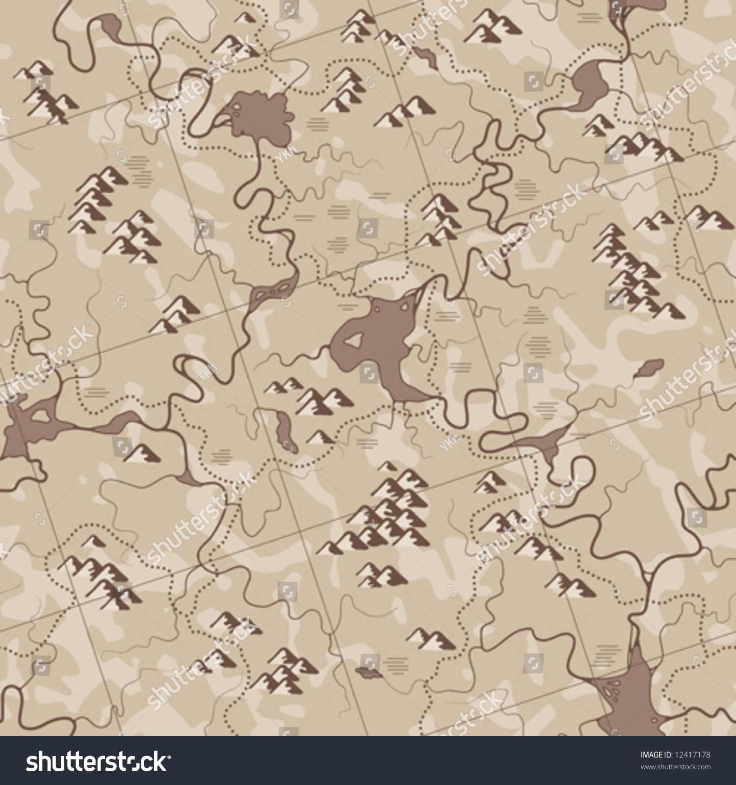 Map Antique Seamless Vector Wallpaper All 12417178
