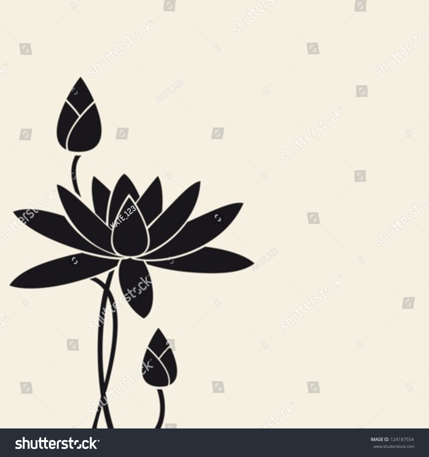 Water-Lily.Vector. Eps-10 (Non Transparent Elements,Non ...
