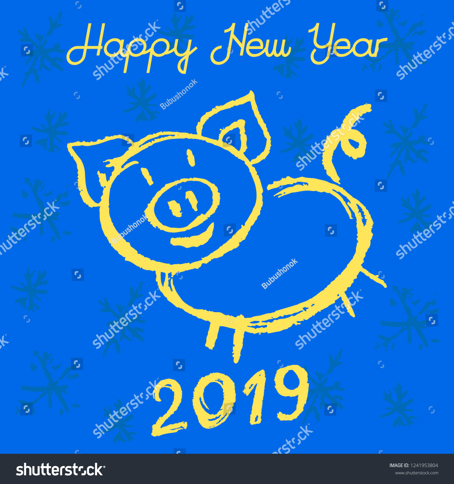 New Years Greeting Card Banner Flyer Stock Vector Royalty