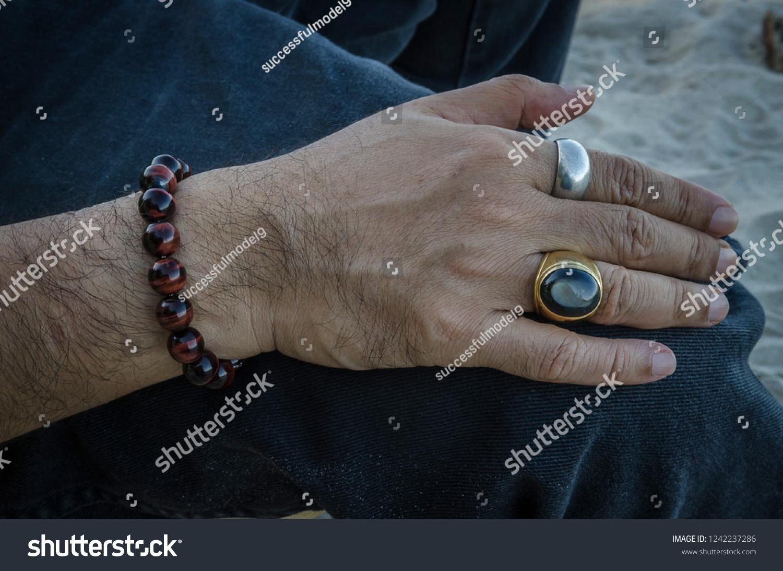 4e320efef0431 Black Star Stone Ring Gold Stone Stock Photo (Edit Now) 1242237286