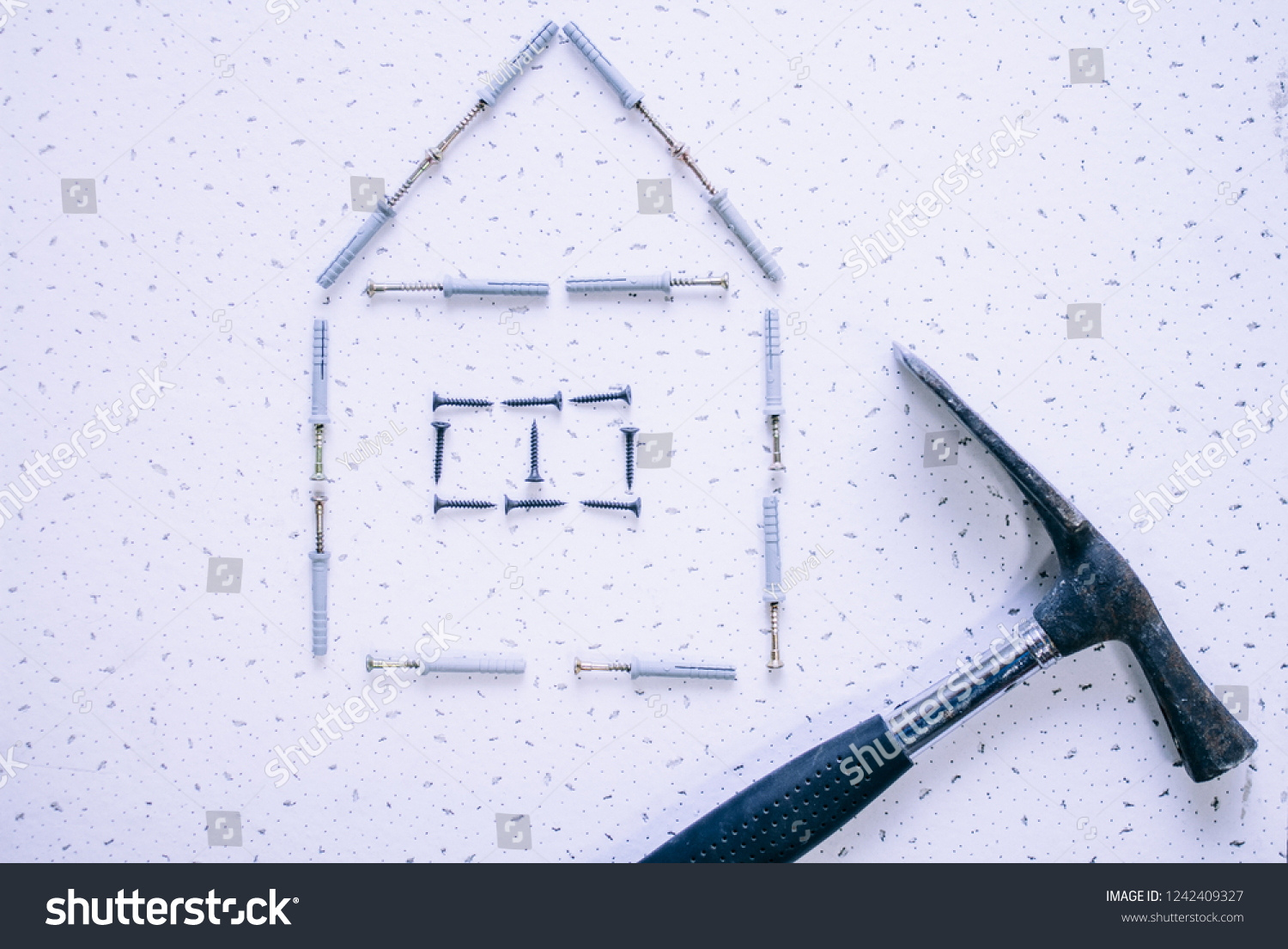 The House Of Hammer image house dowel nails hammer on stock photo (edit now
