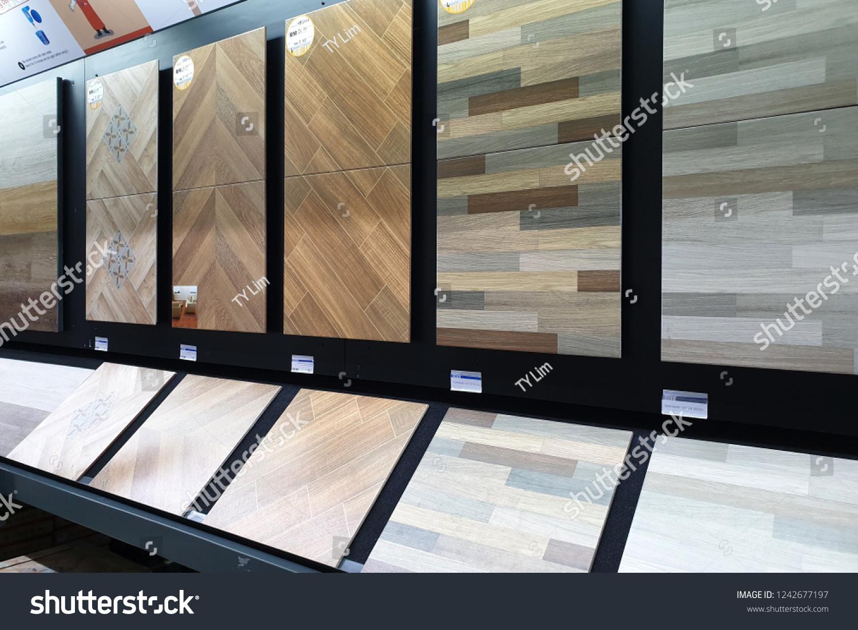 Penang malaysia november 21 2018 modern ceramic tiles display in the homepro