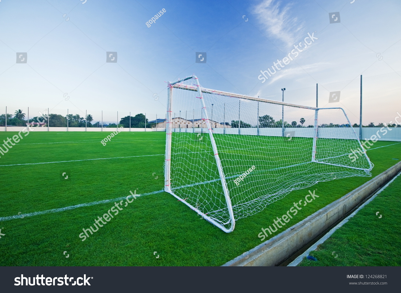 Gate On Football Field Stock Photo 124268821 Shutterstock
