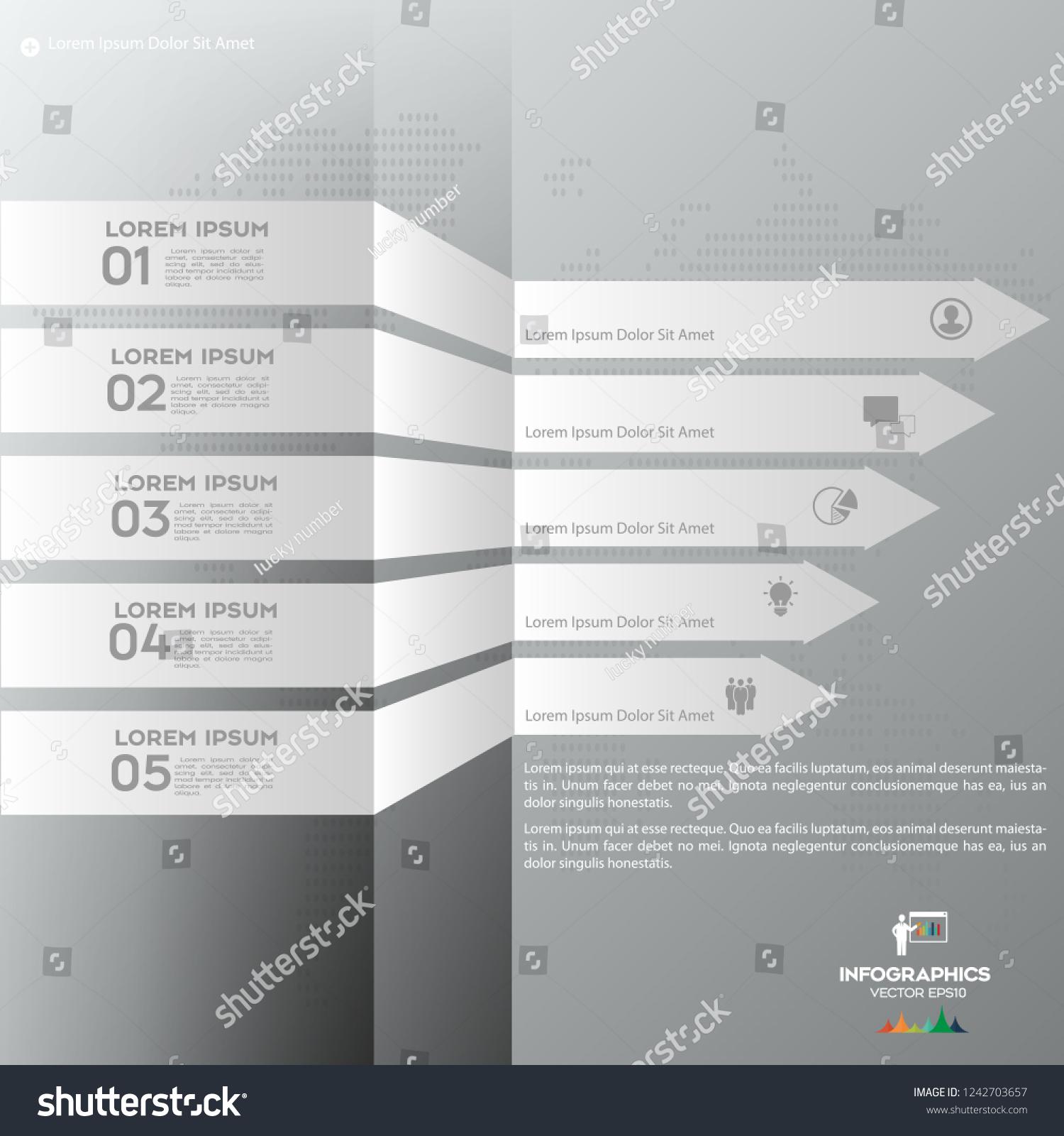 White Modern Infographic Arrows Vector Design Stock Vector (Royalty