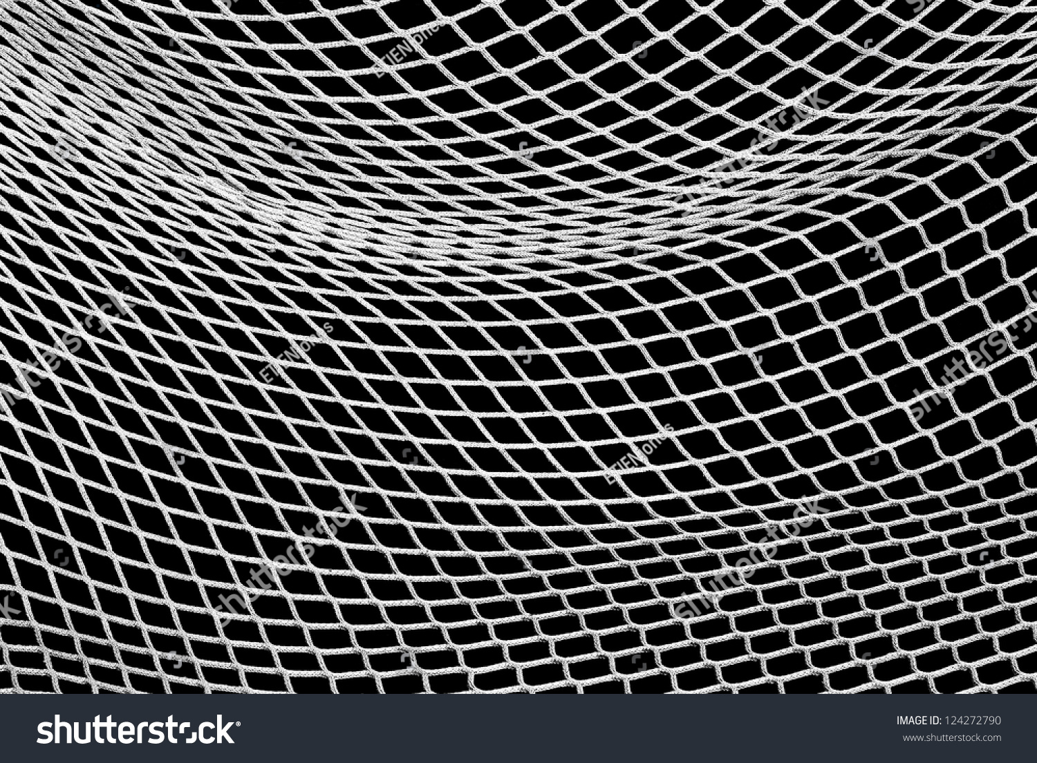 Soccer Net Black White Design Element Stock Photo