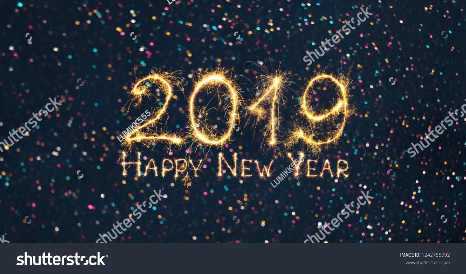 greeting card happy new year 2019 beautiful wide angle holiday web banner or billboard with