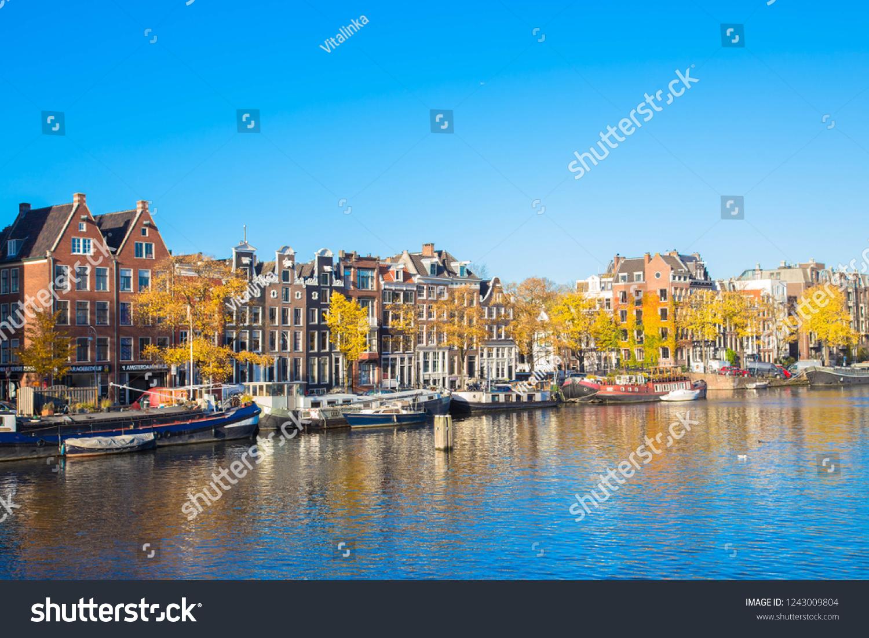 November 8, 2018. Amsterdam, Noord-Holland, the Netherlands. Amsterdam  canals