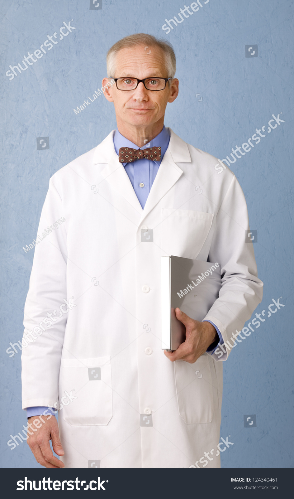 Health Care Professional Looking Camera Lab Stock Photo 124340461