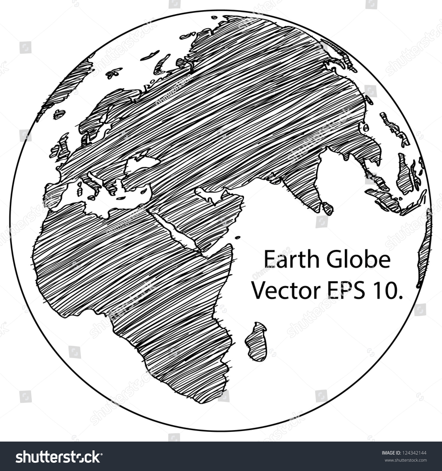 Line Drawing World Map : World map earth globe vector line sketched up illustrator
