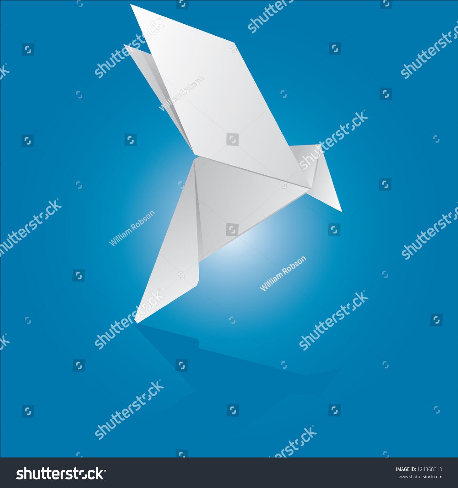 Origami Dove Vector Illustration - 124368310 : Shutterstock - photo#16
