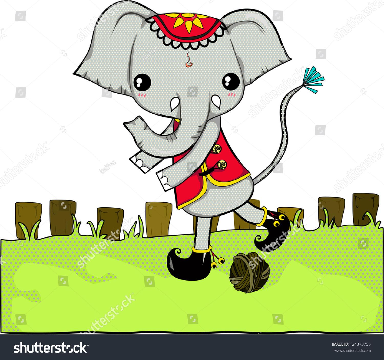 Elephant Symbol Thailand They Big Strong Stock Illustration
