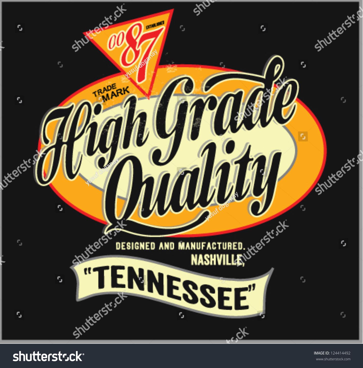 Vintage Retro vector label of high grade premium quality .