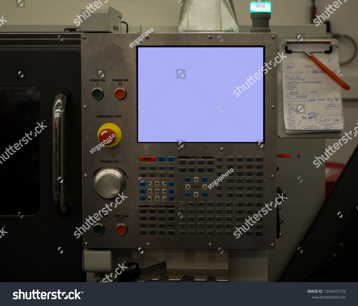 CNC Controller Empty Screen G Code Stock Photo (Edit Now