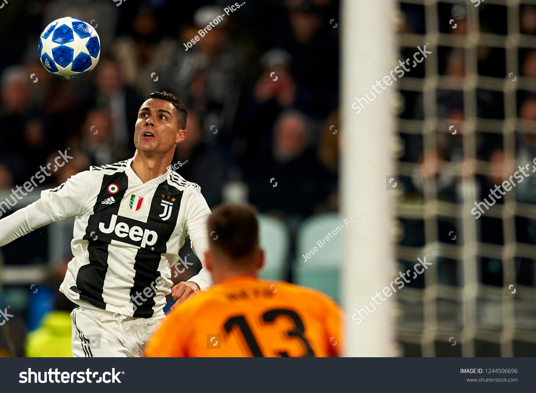Cristiano Ronaldo Juventus Shooting Goal During Stock Photo Edit Now 1244506696