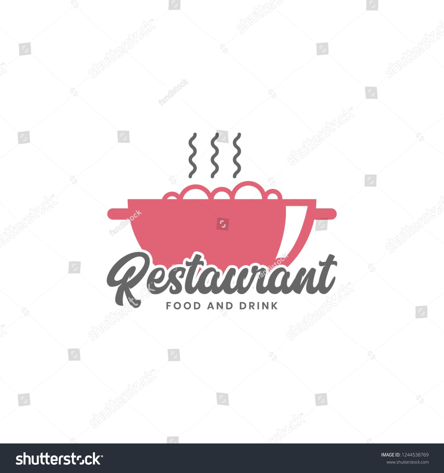 Vector De Stock Libre De Regalias Sobre Restaurant Logo Template Red Color1244538769