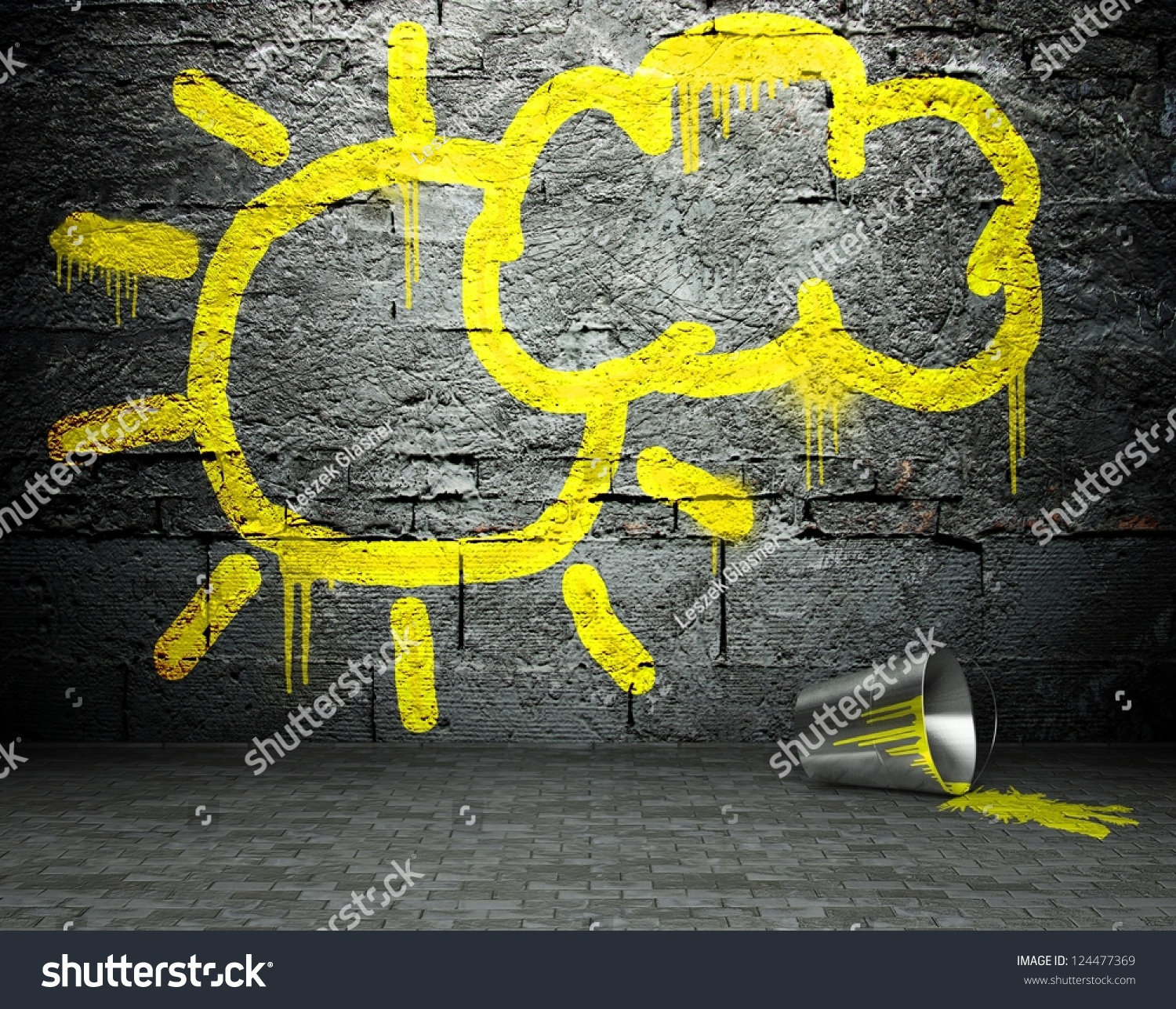 Royalty Free Stock Illustration of Graffiti Wall Sun Cloud Sign ...