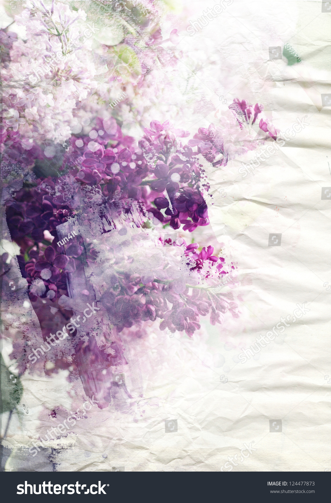 Royalty Free Stock Illustration Of Lilac Flowers On Paper Texture