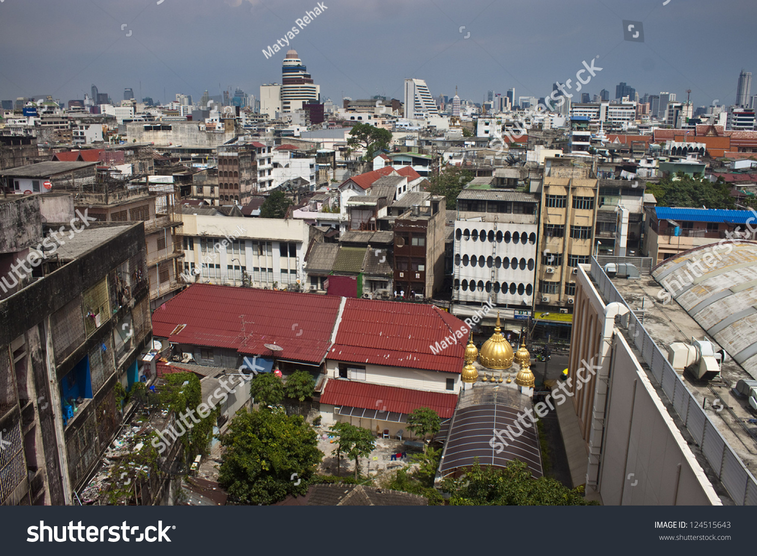 aerial view of bangkok capital of thailand stock photo. Black Bedroom Furniture Sets. Home Design Ideas