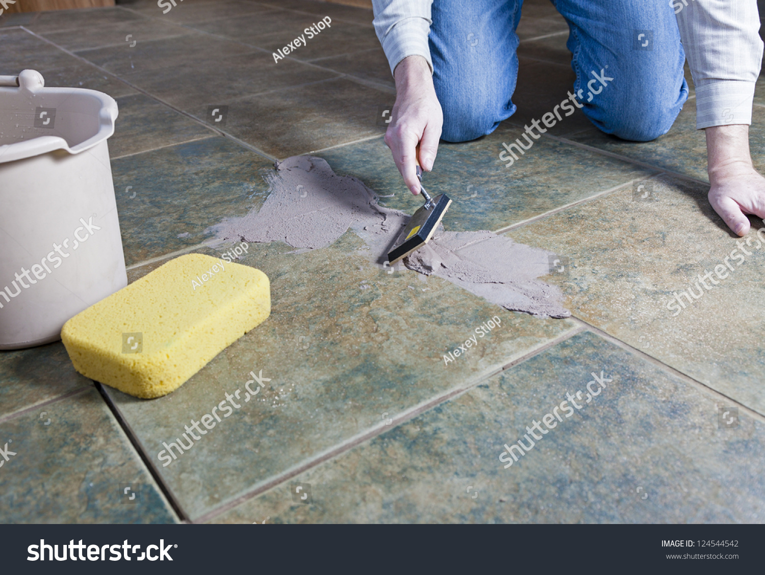Tile Grout Repair Stock Photo 124544542 Shutterstock