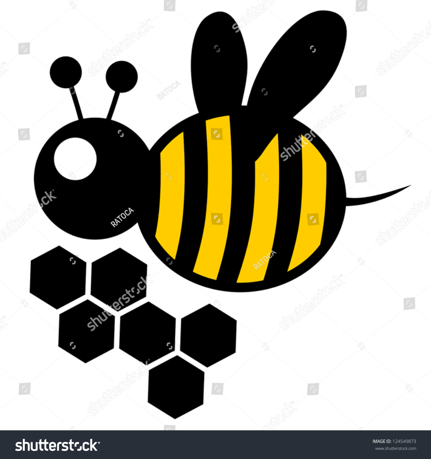 honey bee stock vector 124549873 shutterstock vintage bee vector free vintage bee vector free