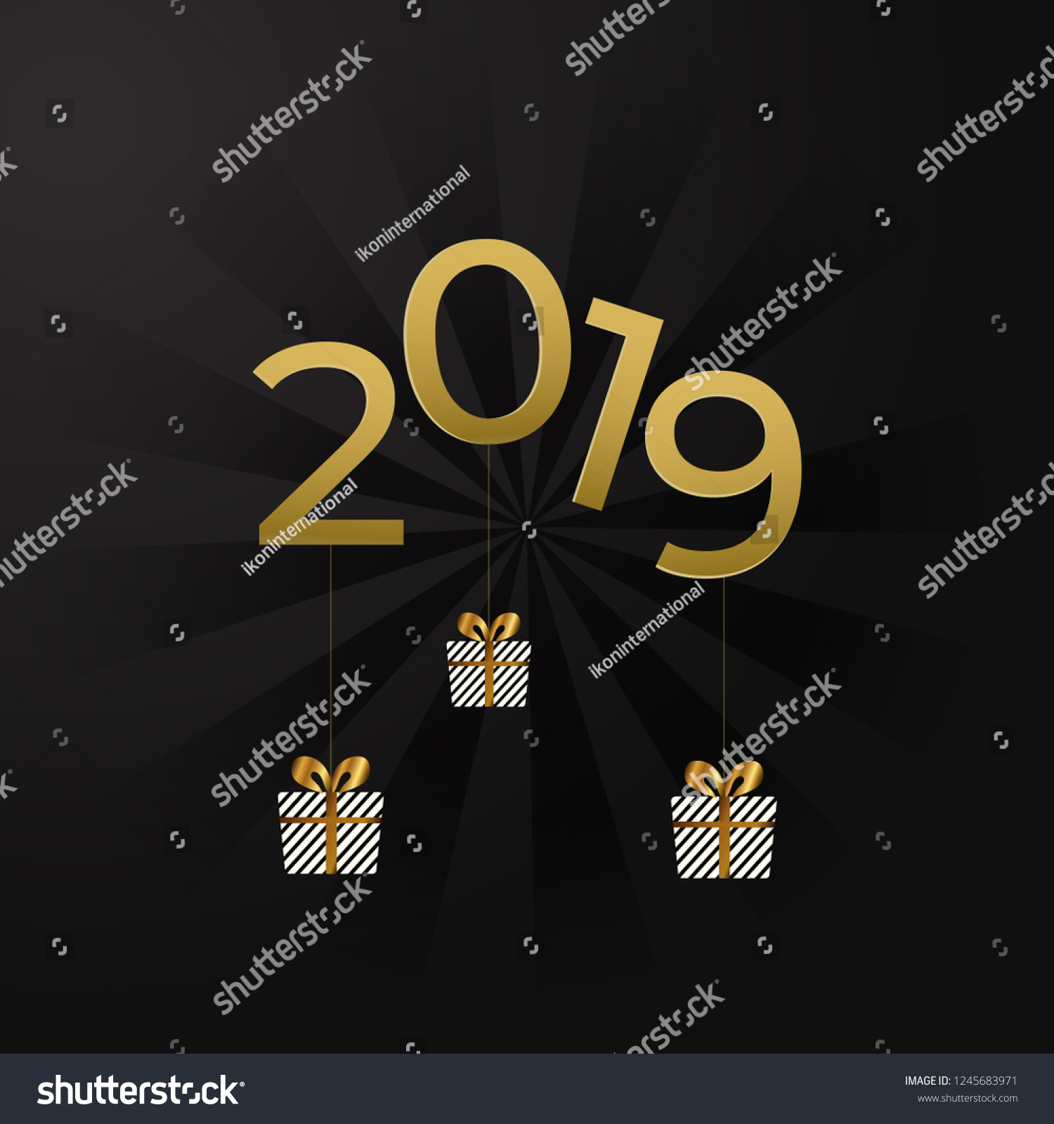 Happy New Year Card Background Wallpaper Stock Vector (Royalty