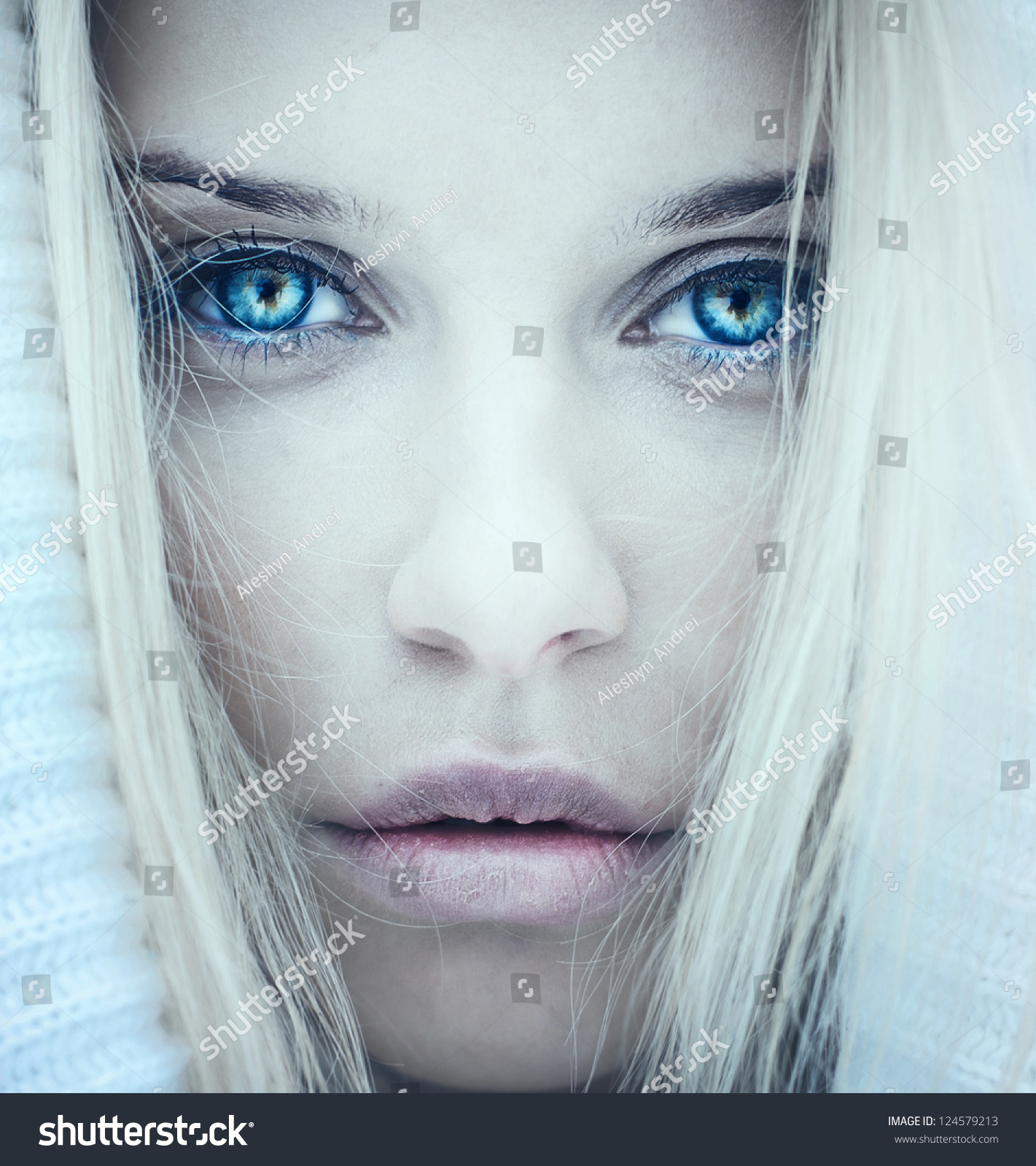 Face Beautiful Girl Photo Cold Tones Stock Photo Edit Now