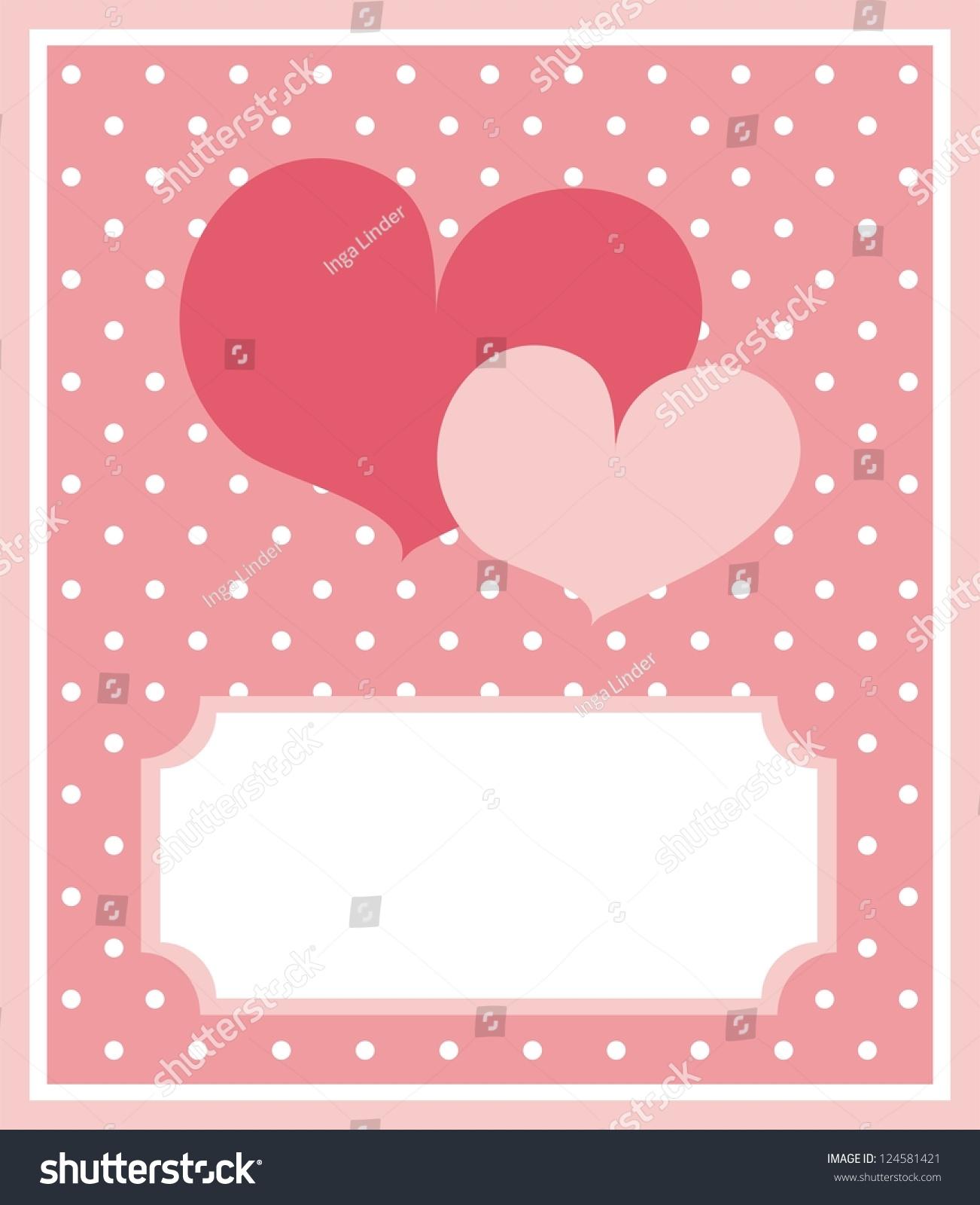 Cute Valentines Card Wedding Invitation Red Illustration – Valentine Card Background