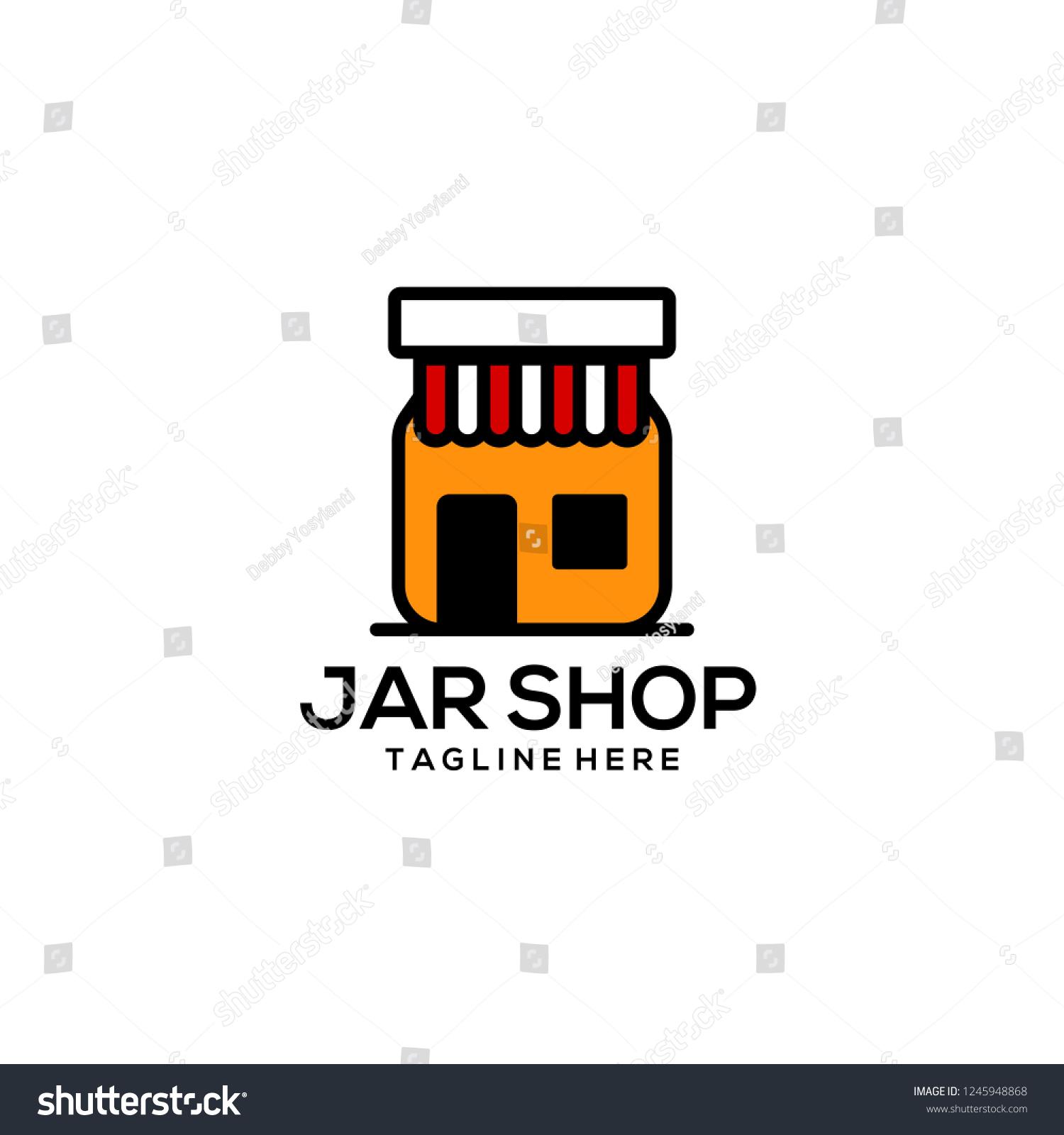 stock vector jar logo design 1245948868