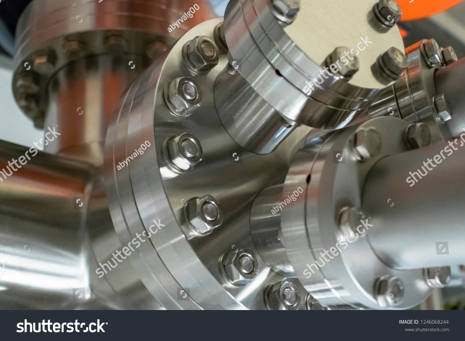 Detail Vacuum Equipment Steel Flanges Bolted Stock Photo (Edit Now