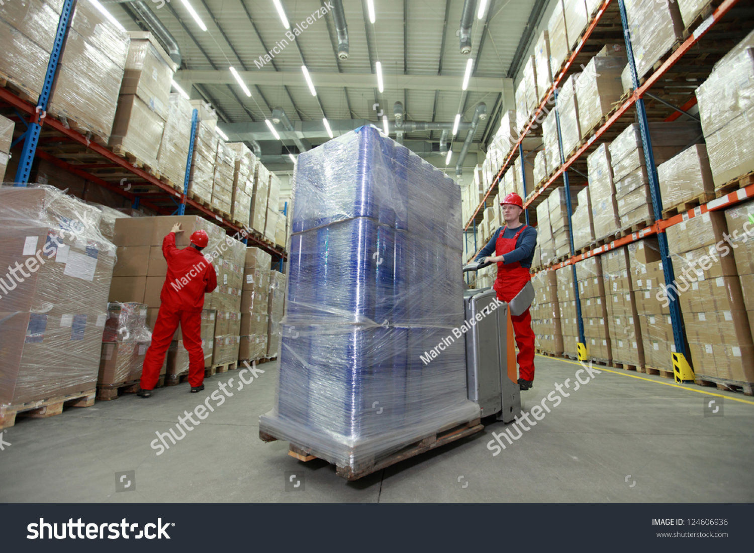 Logistics Management Flow Resources Two Workers Stock ...