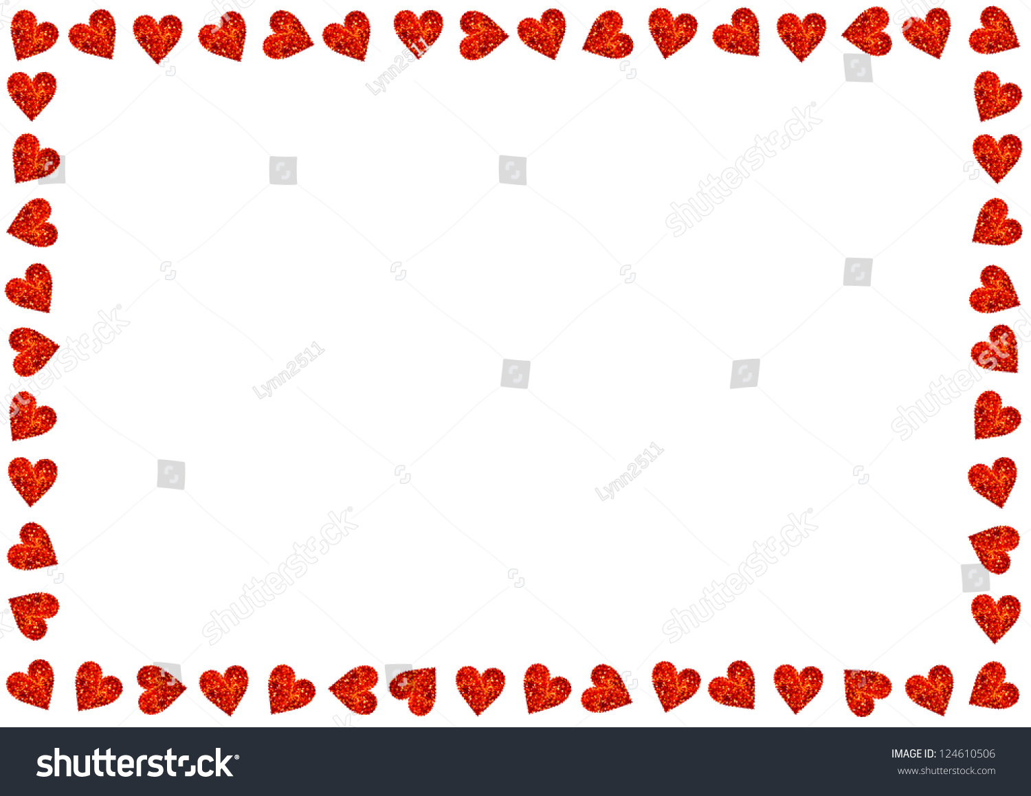 Red Hearts On White Background Valentines Stock Photo Edit Now