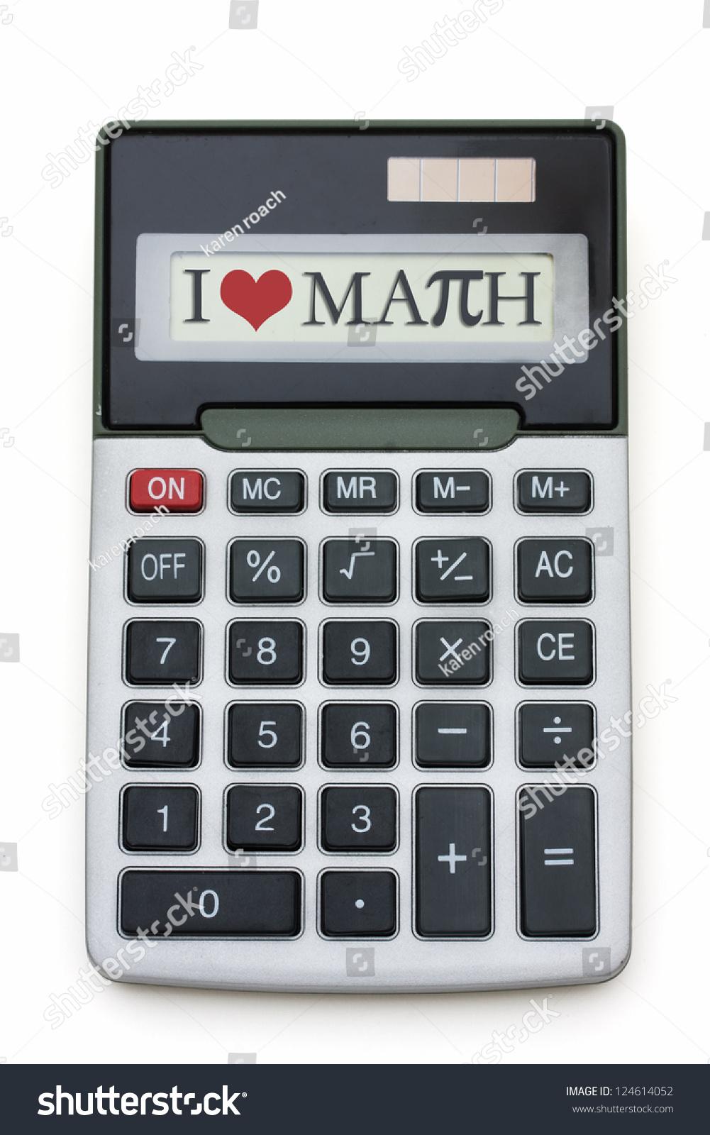 Love Math Calculator Calculator Words Love Stock Photo 124614052 ...