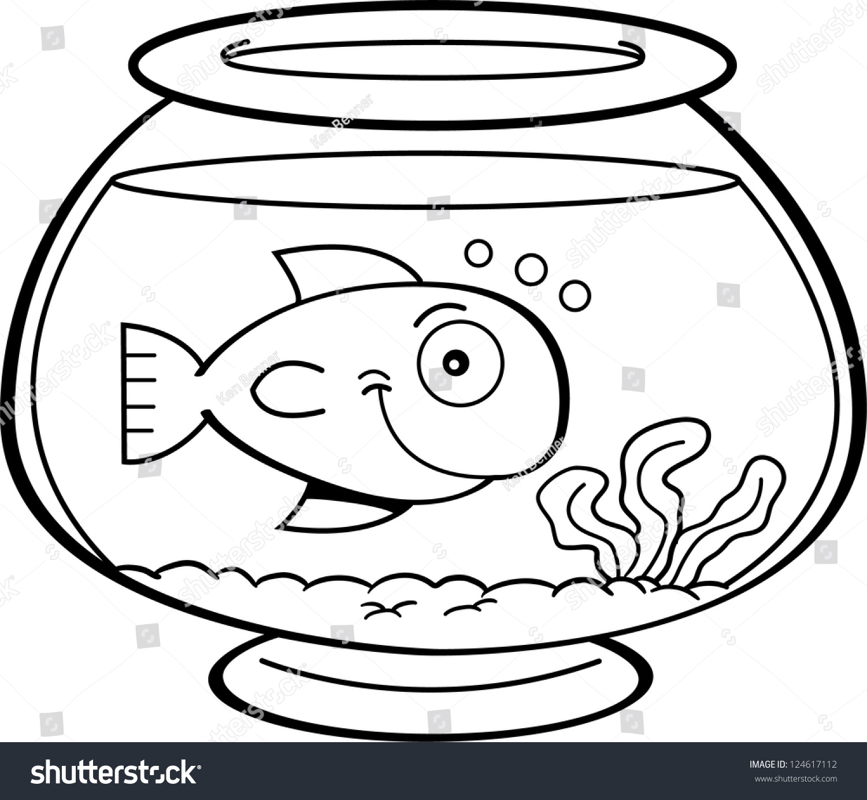 black white illustration fish fish bowl stock vector royalty free 124617112 https www shutterstock com image vector black white illustration fish bowl 124617112