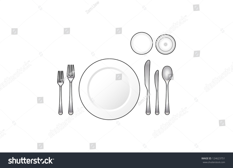 Diagram  Place Setting For An Informal Dinner  Stock