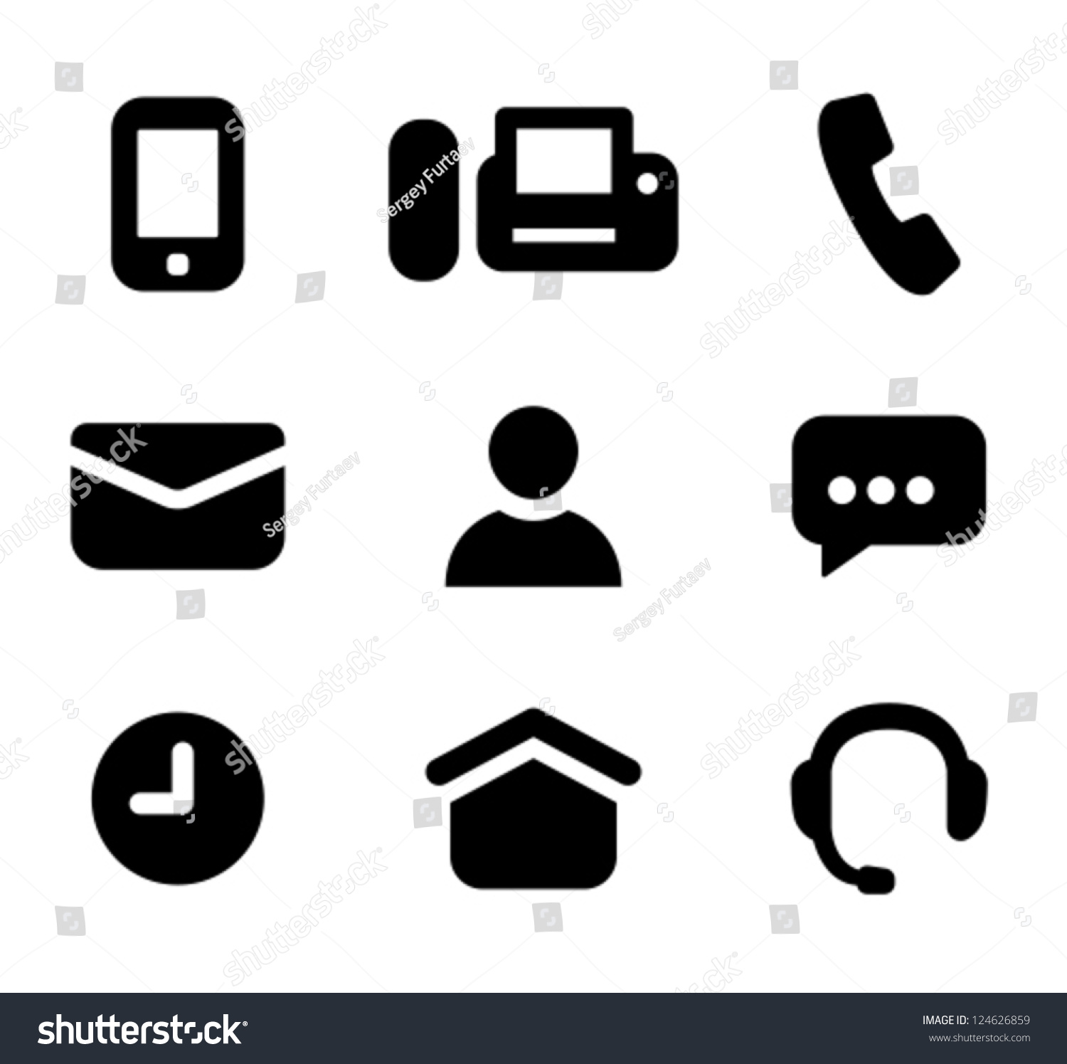 Contact information signs mobile phone fax stock vector 124626859 contact information signs mobile phone fax telephone email person instant sciox Gallery