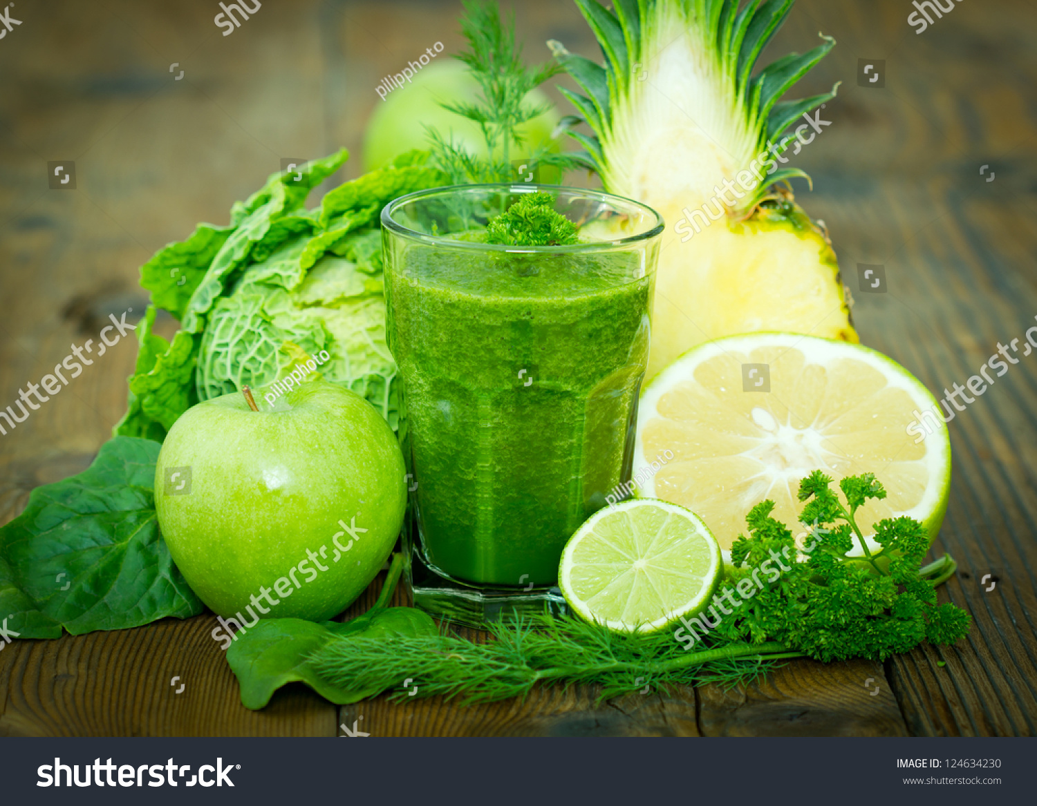 Healthy Green Smoothie Stock Photo 124634230 Shutterstock