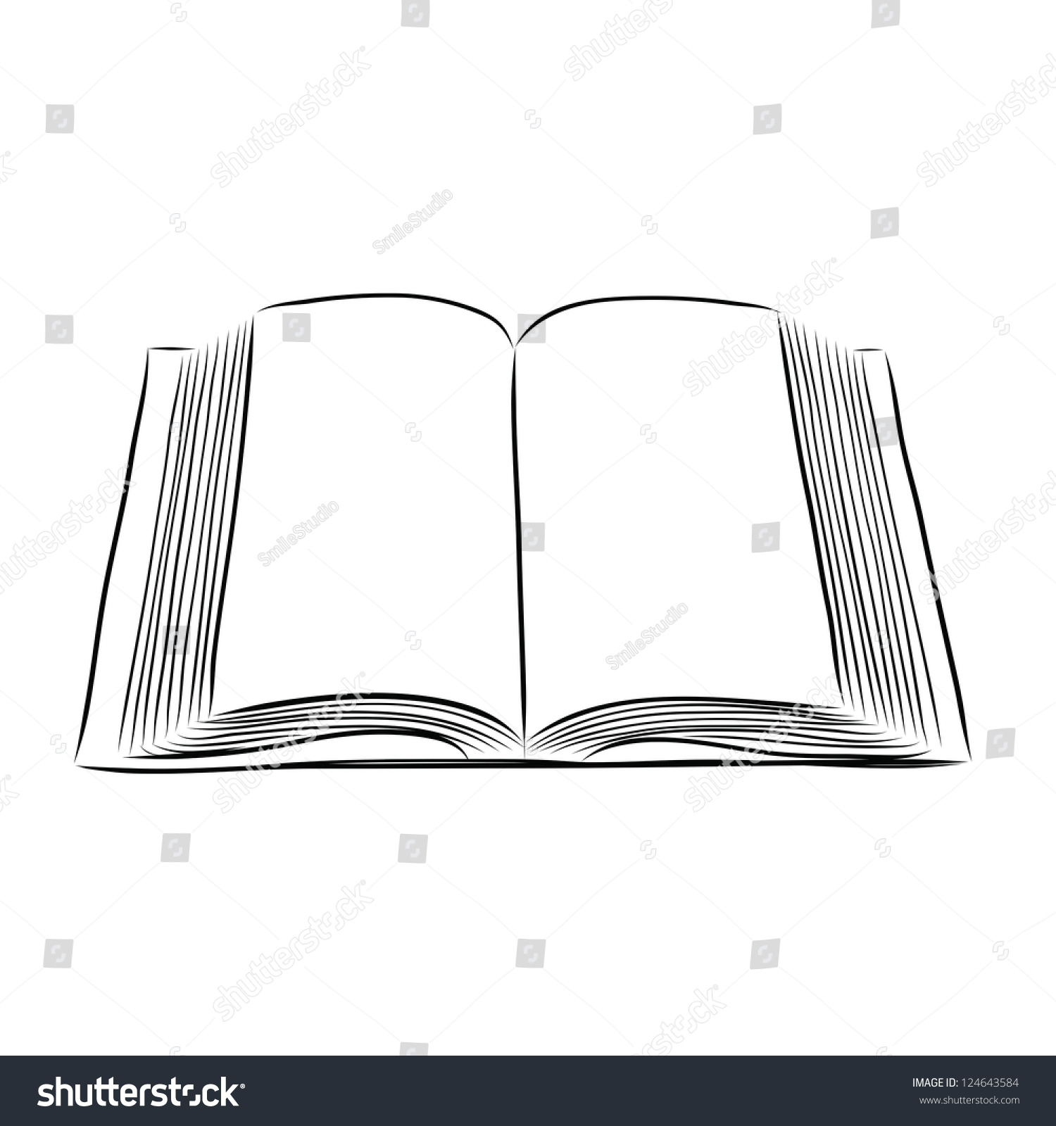 open book hand draw stock vector image 43063326 best review