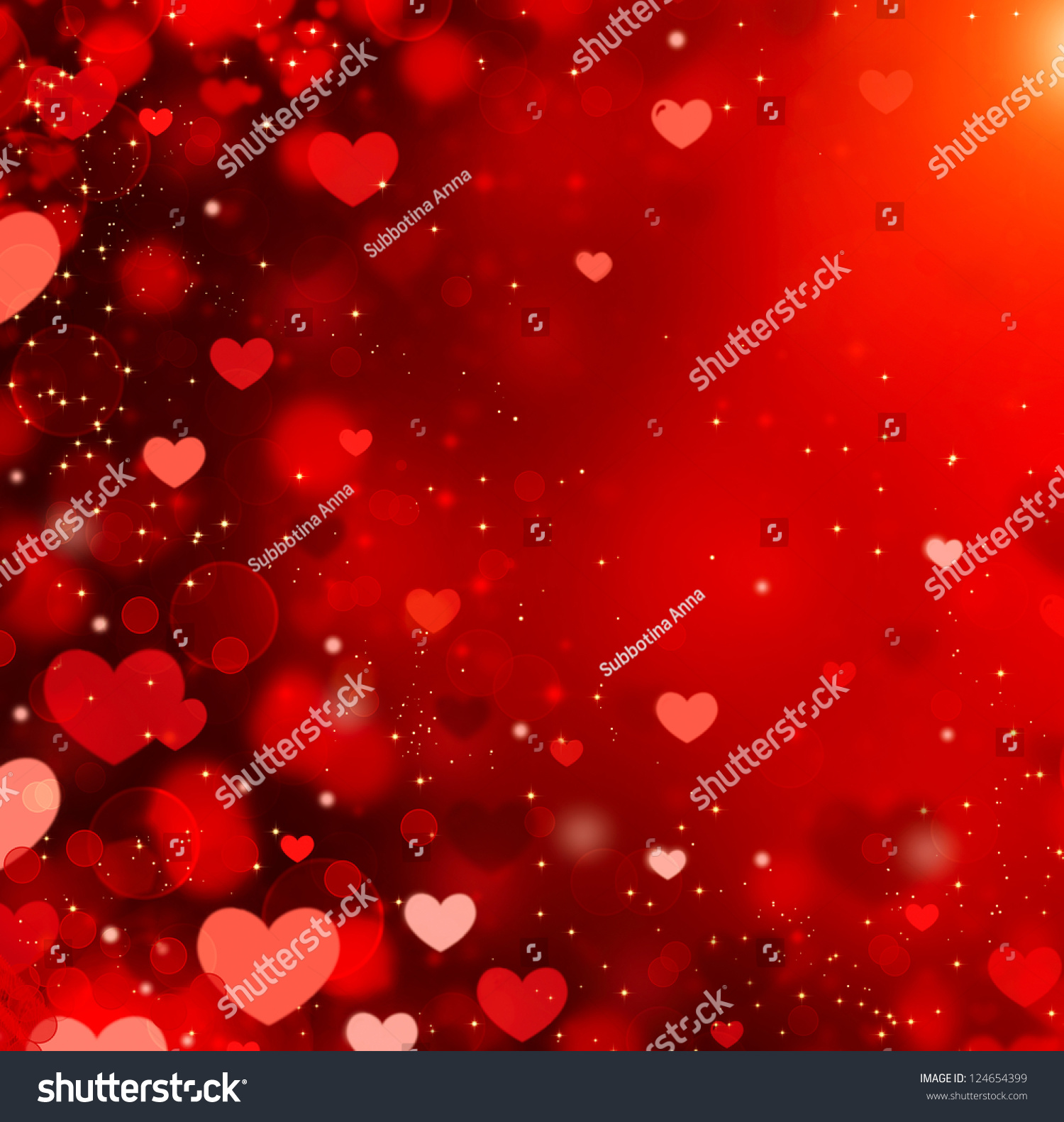 valentine hearts abstract red background stvalentines stock