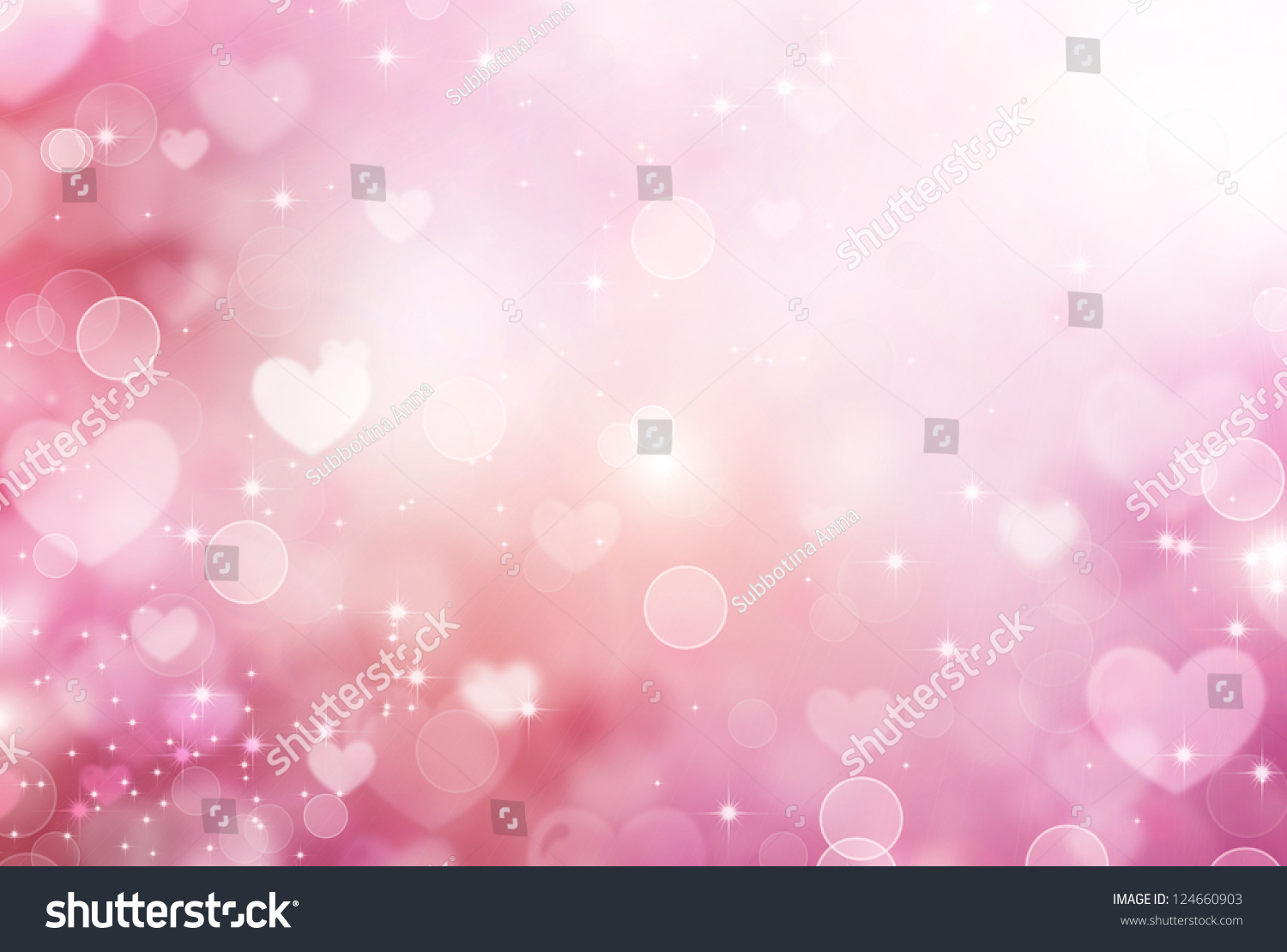 Valentine Hearts Abstract Pink Background St Valentines Stock