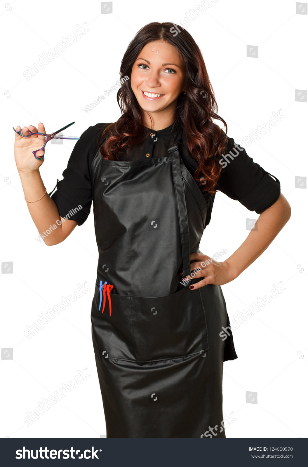 Very Attractive And Stylish Professional Hairdresser Woman