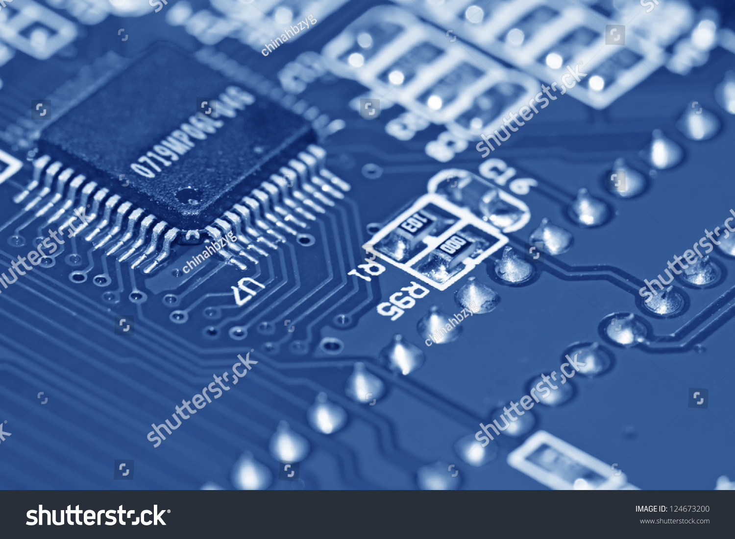 Closeup Printed Circuit Boards Universal Application Stock Photo Stockfoto Board Pcb Used In Industrial Electronic Of The Current High Tech Products