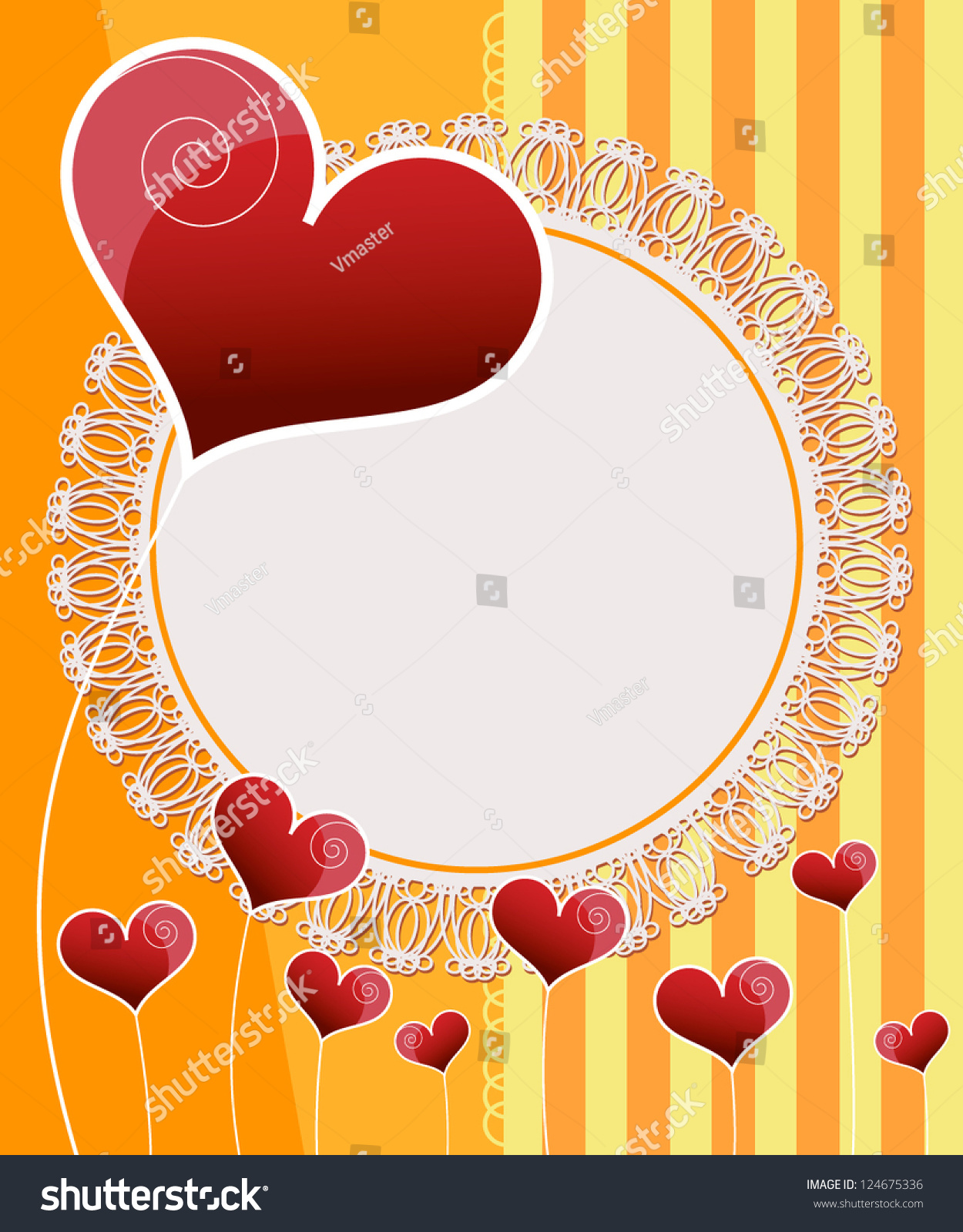 Invitation Card Design Wedding Card Stock Vector 124675336 ...