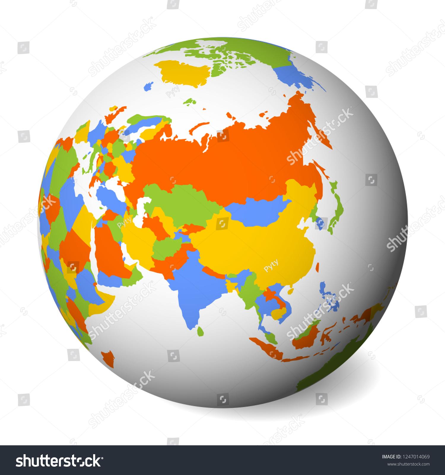 Picture of: Vector De Stock Libre De Regalias Sobre Blank Political Map Asia 3d Earth1247014069