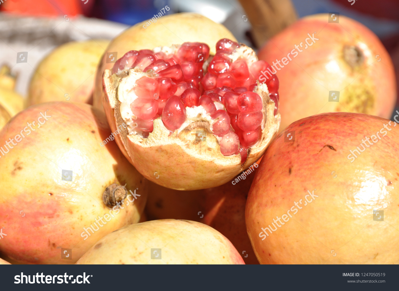 pomegranate kind vitamin rich fruit stock photo edit now