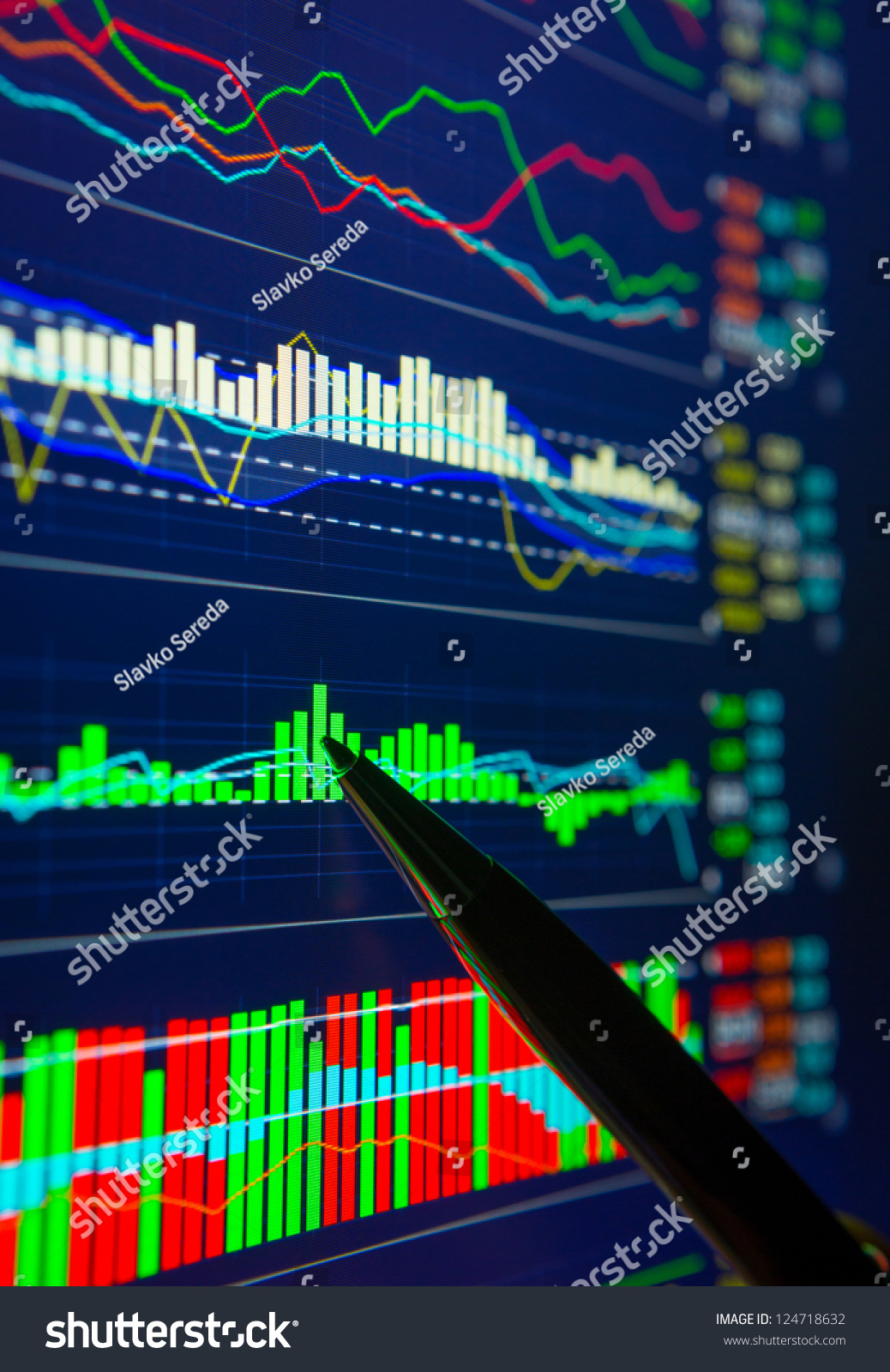 Analyzing Quotes Data Analyzing Forex Market Charts Quotes Stock Photo 124718632