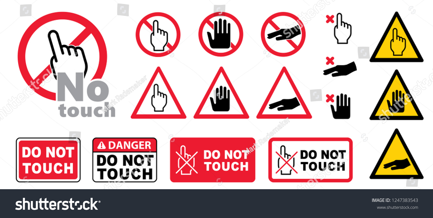 Do Not Touch Vector Sign Icon Stock Vector (Royalty Free